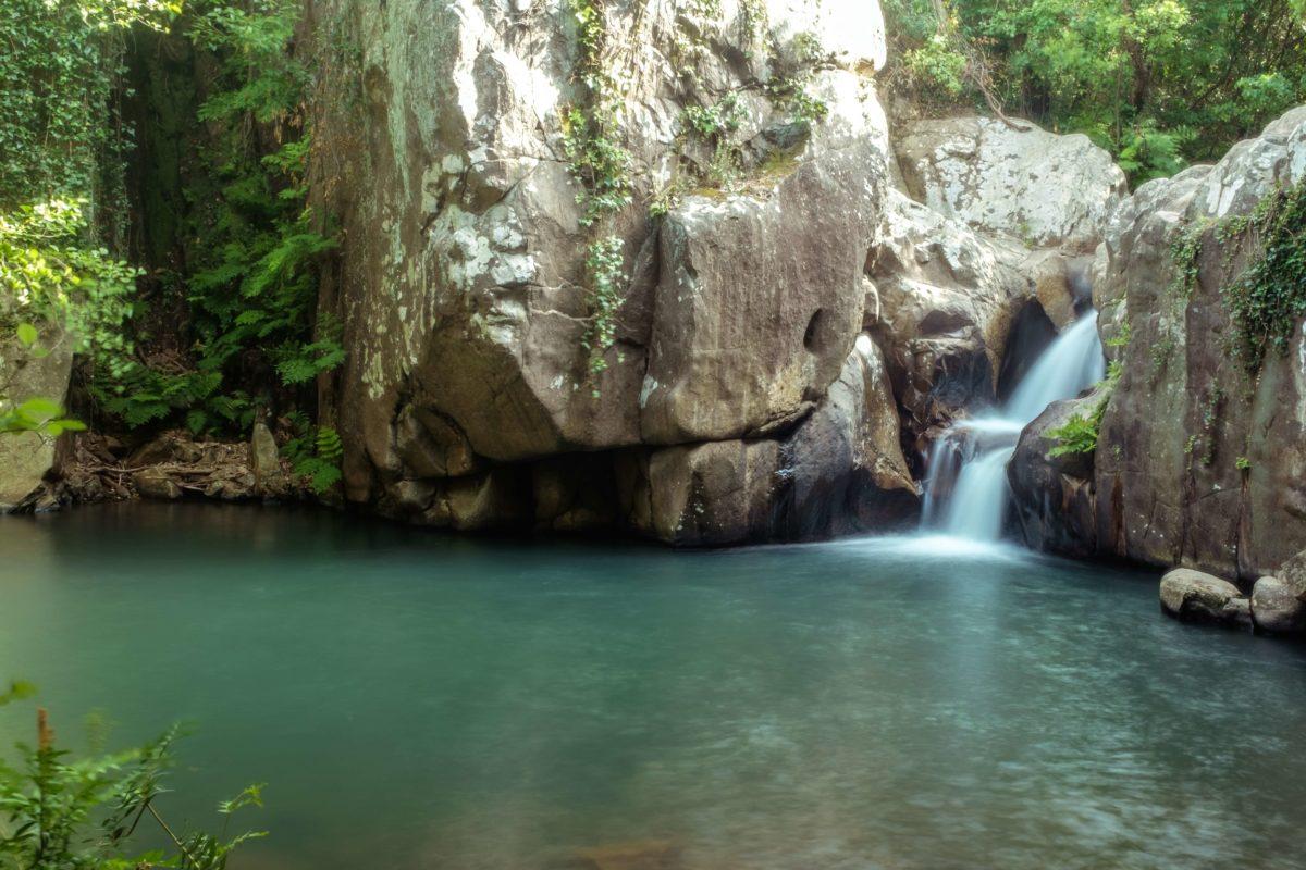sadzawka wodospad