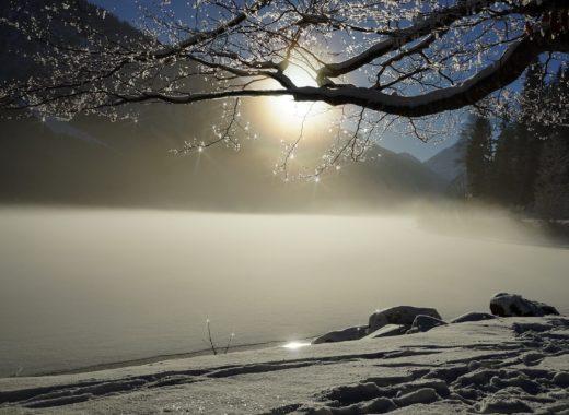 słońce srebrzyste, śnieg
