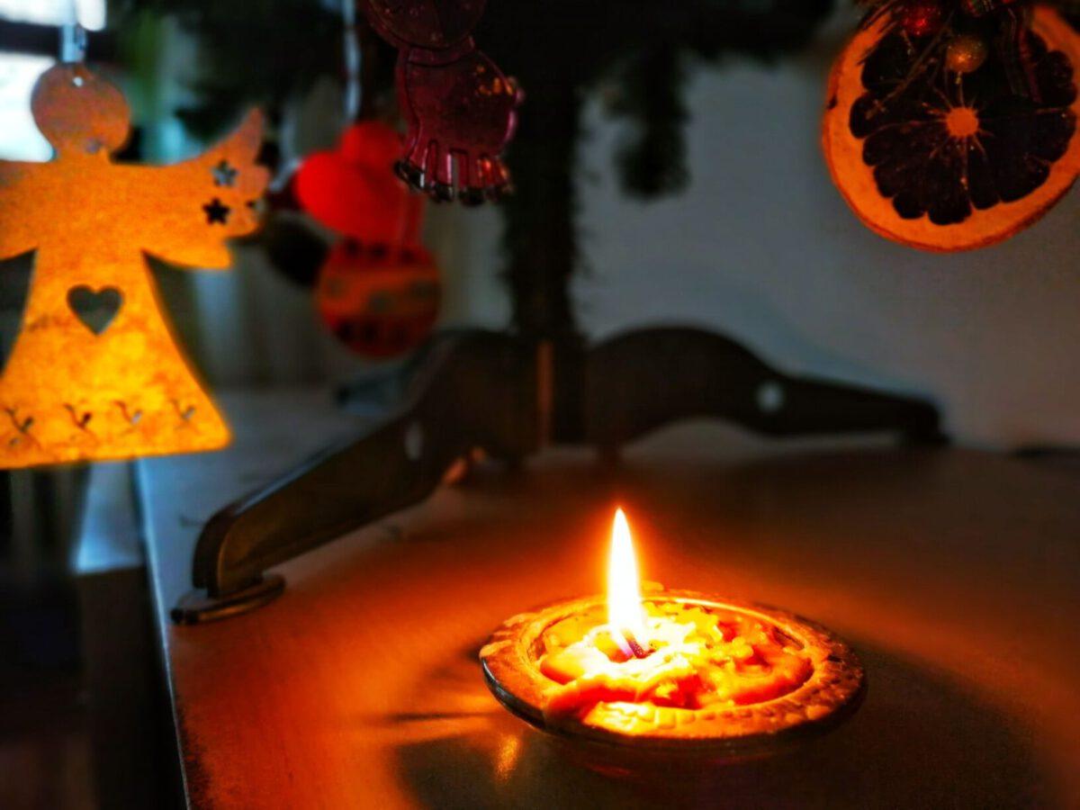 świeca choinka